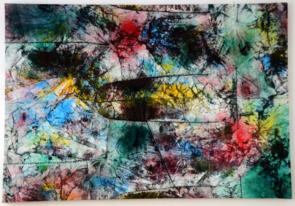Maleri 2 (painting 2) 230x150 pigment, oile, lærred,tråd